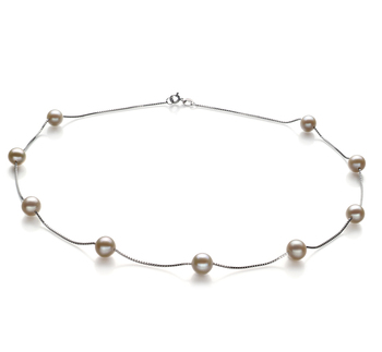 7-8mm AA Quality Freshwater Cultured Pearl Necklace in Tin Cup White