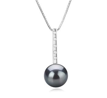 11-12mm AAA Quality Tahitian Cultured Pearl Pendant in Vanna Black