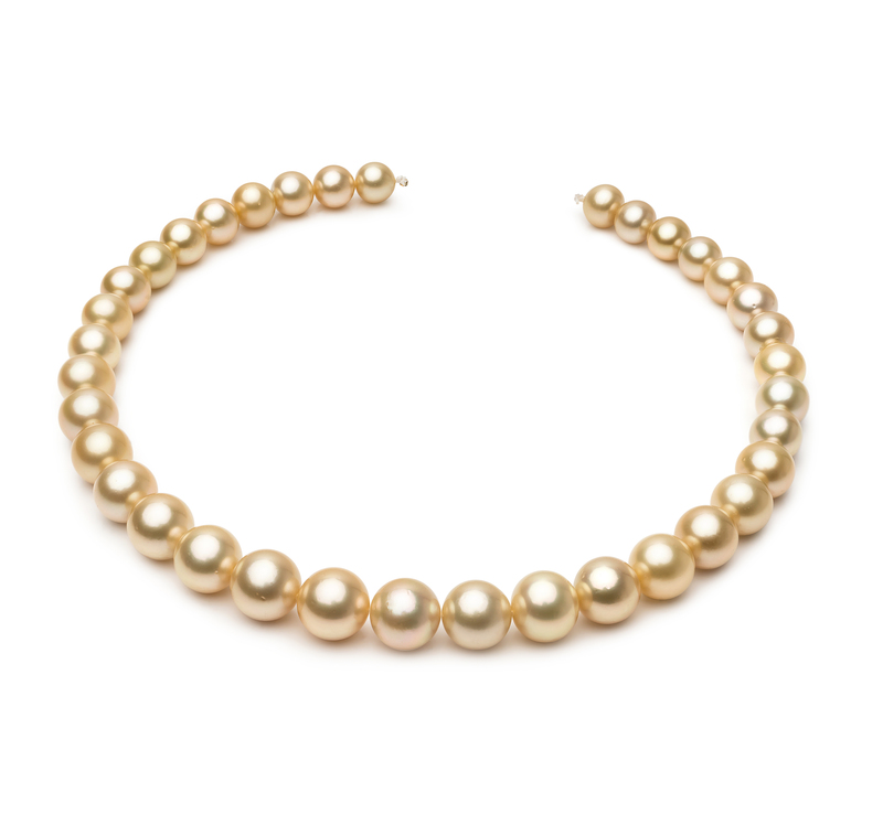10-13.3mm AAA Quality South Sea Cultured Pearl Necklace in 18-inch Gold - #1