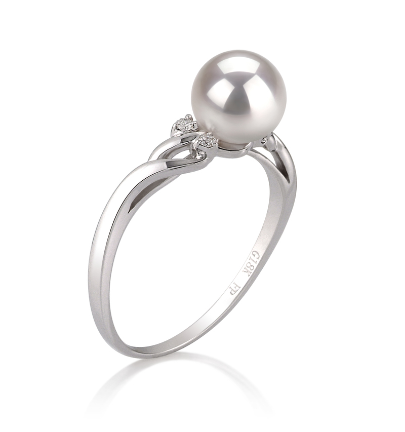 6-7mm AAA Quality Japanese Akoya Cultured Pearl Ring in Andrea White - #2
