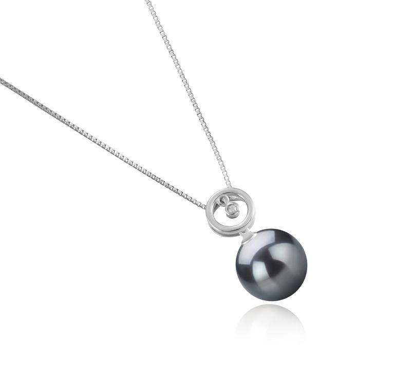 11-12mm AAA Quality Tahitian Cultured Pearl Pendant in Aurora Black - #3