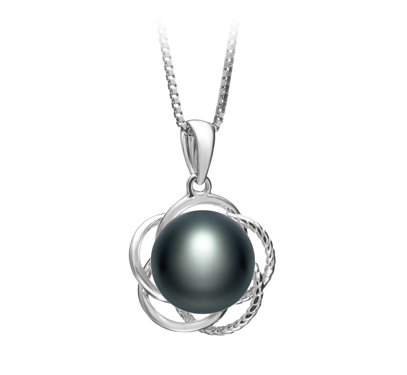 9-10mm AA Quality Freshwater Cultured Pearl Pendant in Bobbie Black - #1