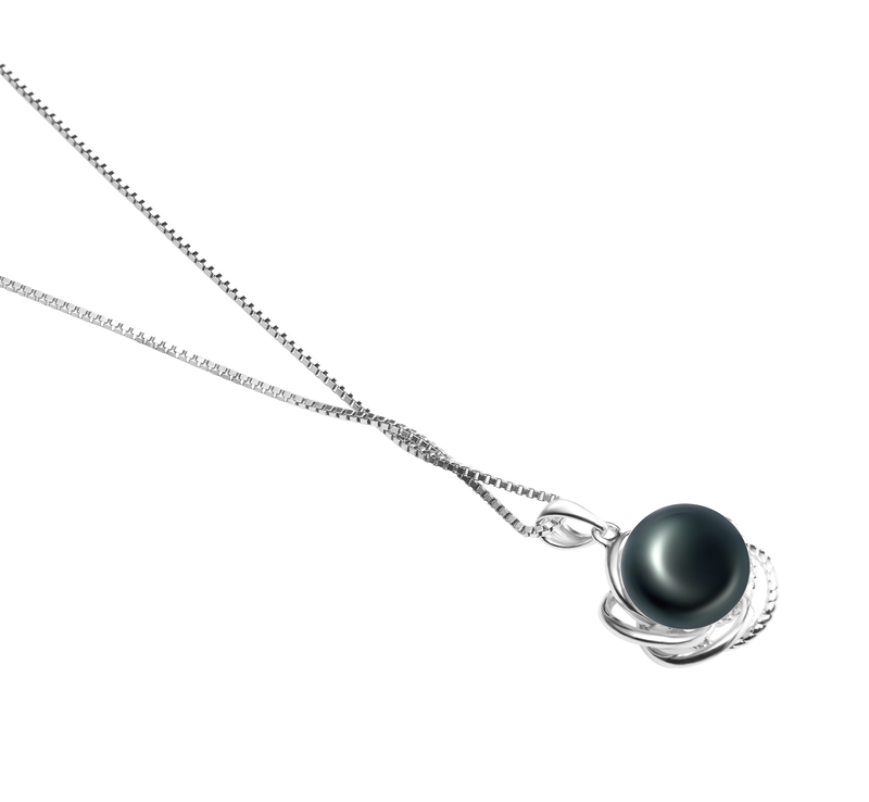 9-10mm AA Quality Freshwater Cultured Pearl Pendant in Bobbie Black - #3