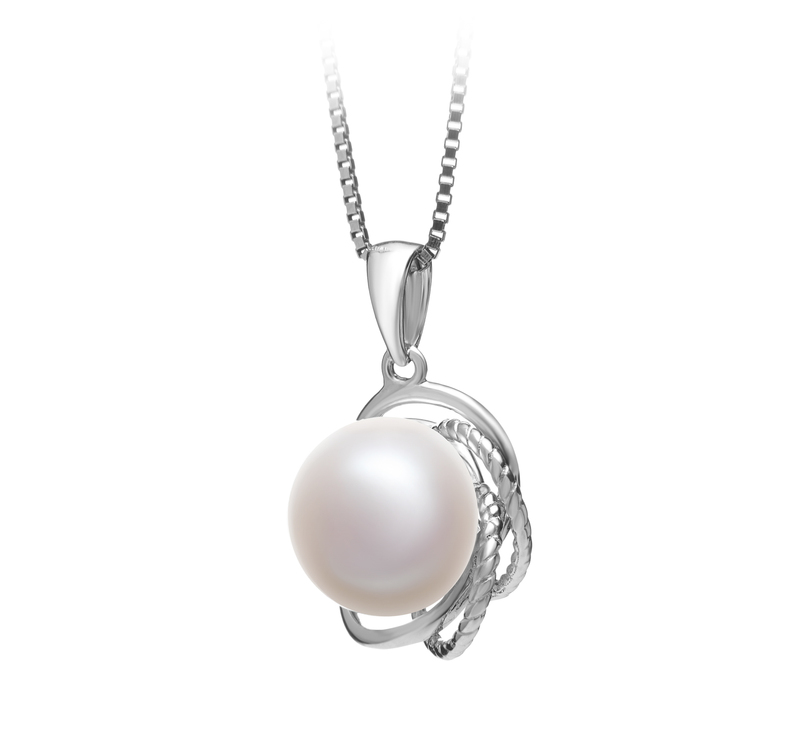 9-10mm AA Quality Freshwater Cultured Pearl Pendant in Bobbie White - #2