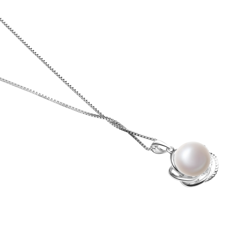 9-10mm AA Quality Freshwater Cultured Pearl Pendant in Bobbie White - #3