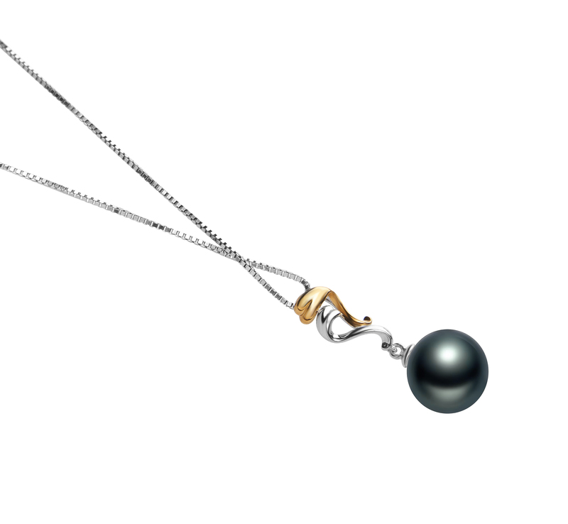 10-11mm AAA Quality Tahitian Cultured Pearl Pendant in Brianna Black - #3