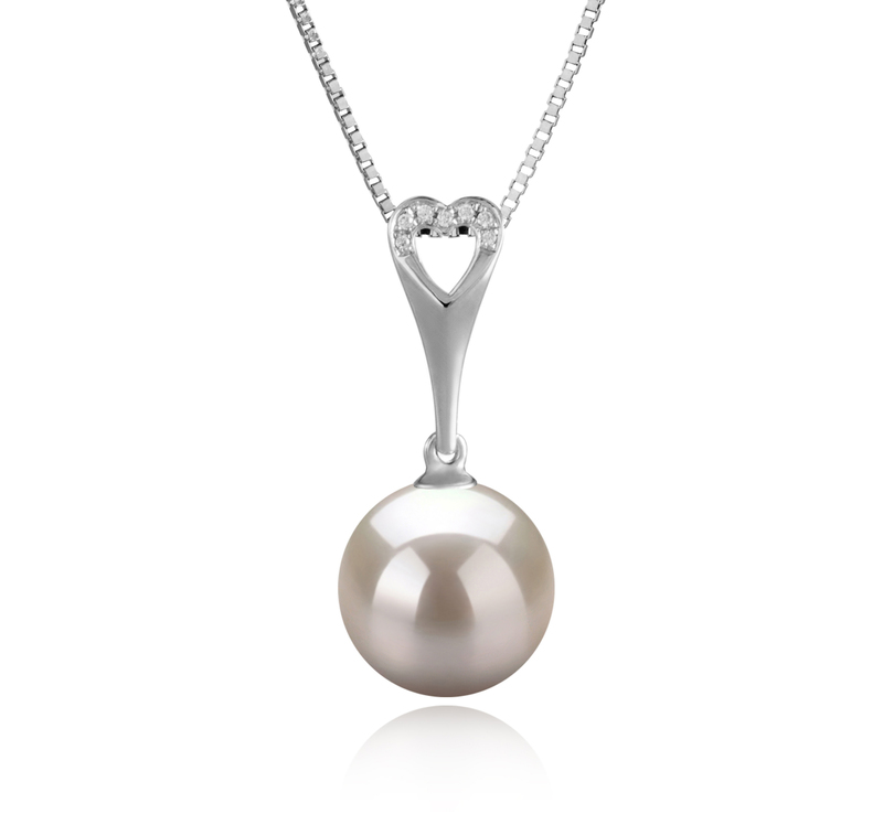 10-11mm AAAA Quality Freshwater Cultured Pearl Pendant in Bunny White - #1