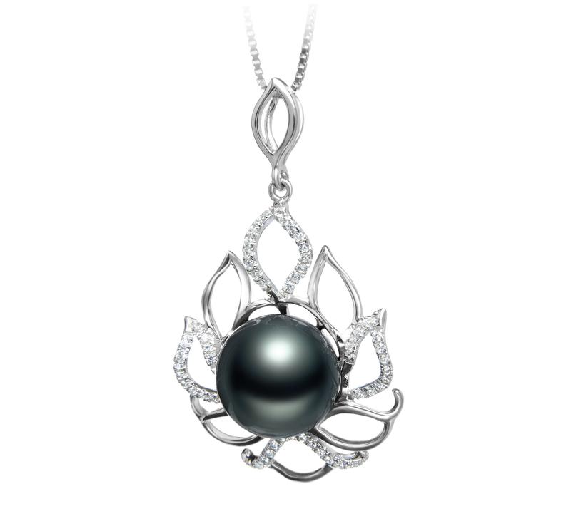 12-13mm AAA Quality Tahitian Cultured Pearl Pendant in Calida Black - #2