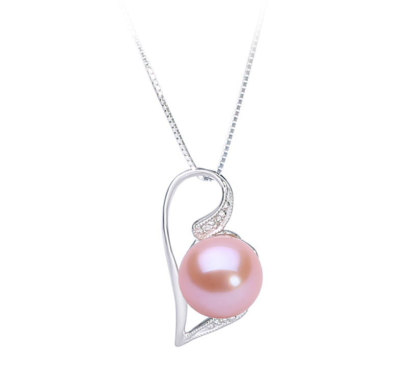 7-8mm AAAA Quality Freshwater Cultured Pearl Pendant in Carlin Pink - #1