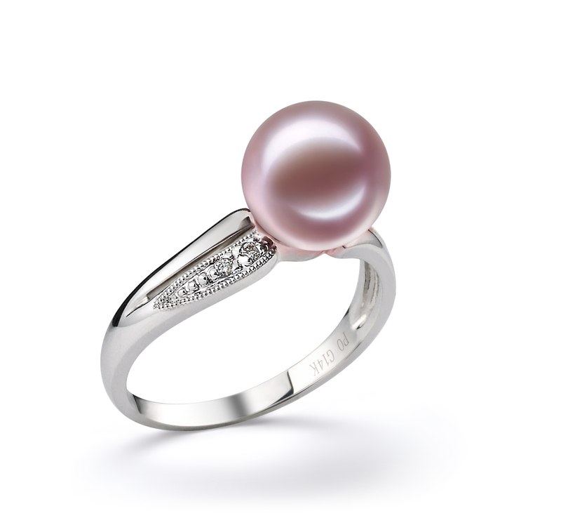 9-10mm AAAA Quality Freshwater Cultured Pearl Ring in Caroline Lavender - #2
