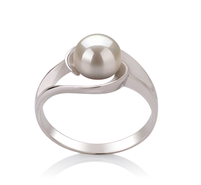 6-7mm AAA Quality Freshwater Cultured Pearl Ring in Clare White - #1