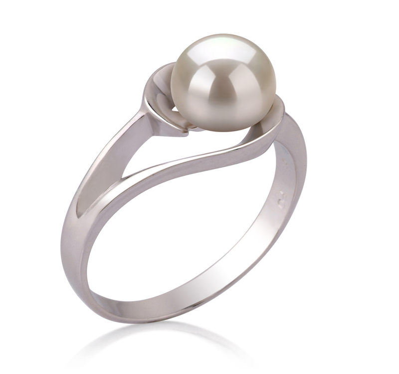 6-7mm AAA Quality Freshwater Cultured Pearl Ring in Clare White - #2