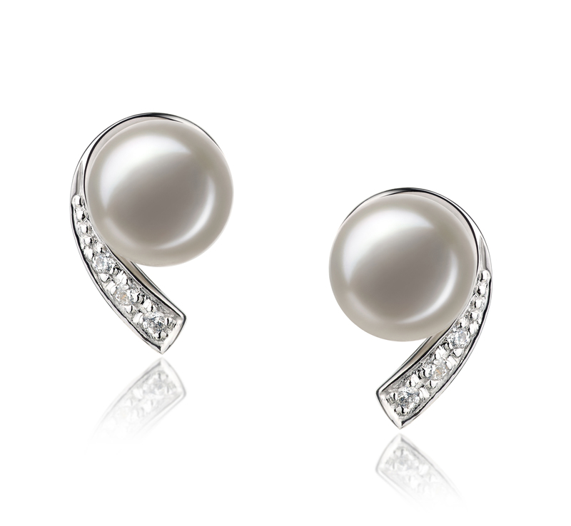 7-8mm AA Quality Freshwater Cultured Pearl Set in Claudia White - #3