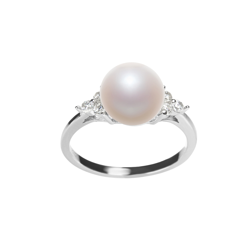 8-9mm AAA Quality Freshwater Cultured Pearl Ring in Dacey White - #1
