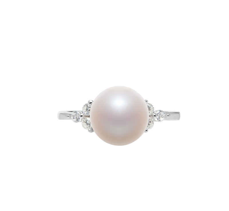 8-9mm AAA Quality Freshwater Cultured Pearl Ring in Dacey White - #3