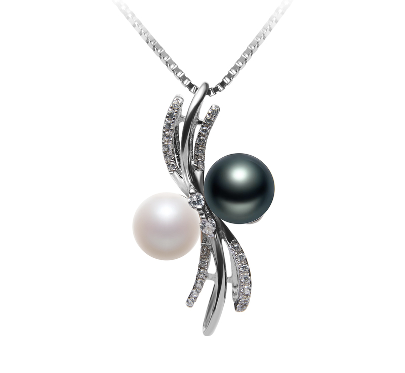 6-7mm AAAA Quality Freshwater Cultured Pearl Pendant in Davina Multicolor - #1