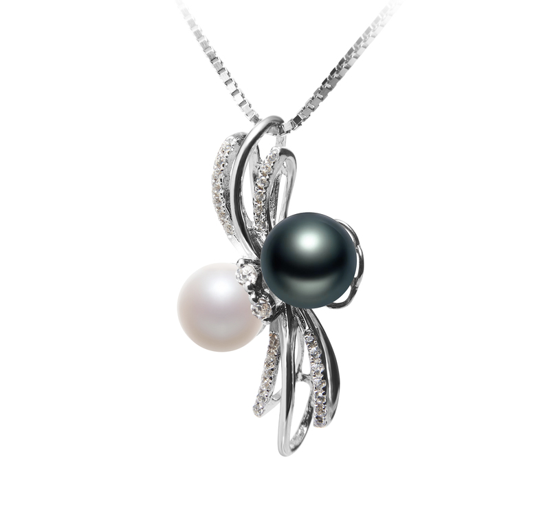 6-7mm AAAA Quality Freshwater Cultured Pearl Pendant in Davina Multicolor - #2