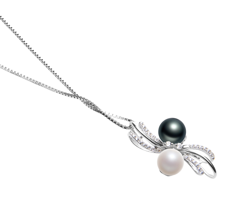 6-7mm AAAA Quality Freshwater Cultured Pearl Pendant in Davina Multicolor - #3