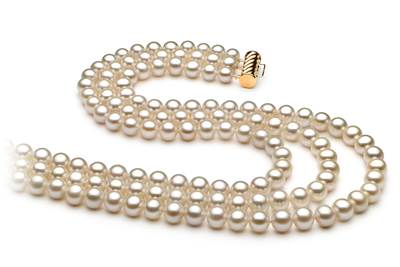 6-7mm AA Quality Freshwater Cultured Pearl Necklace in Dianna White - #2