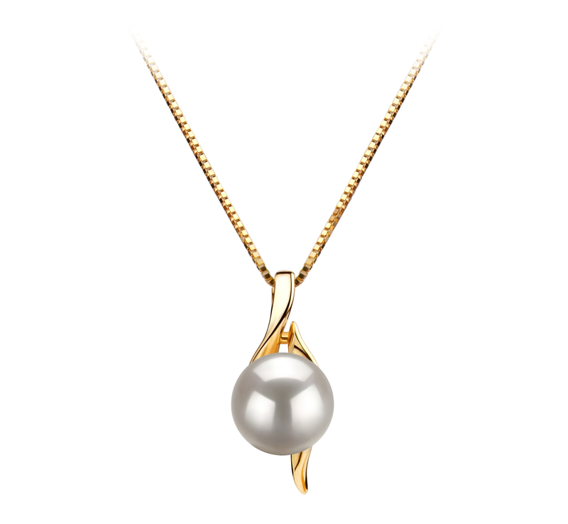 6-7mm AAA Quality Japanese Akoya Cultured Pearl Pendant in Dinah White - #1