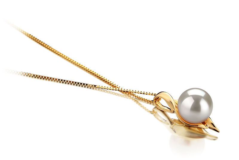 6-7mm AAA Quality Japanese Akoya Cultured Pearl Pendant in Dinah White - #2