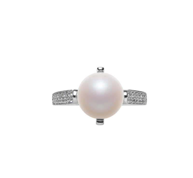 8-9mm AAA Quality Freshwater Cultured Pearl Ring in Erica White - #3