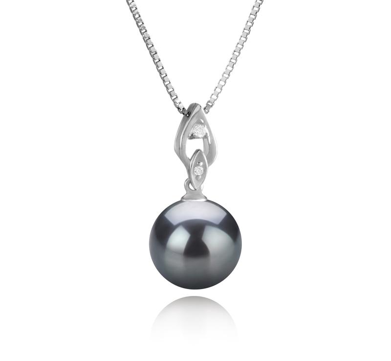 11-12mm AAA Quality Tahitian Cultured Pearl Pendant in Frida Black - #1