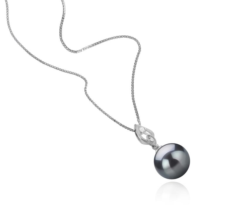 11-12mm AAA Quality Tahitian Cultured Pearl Pendant in Frida Black - #2