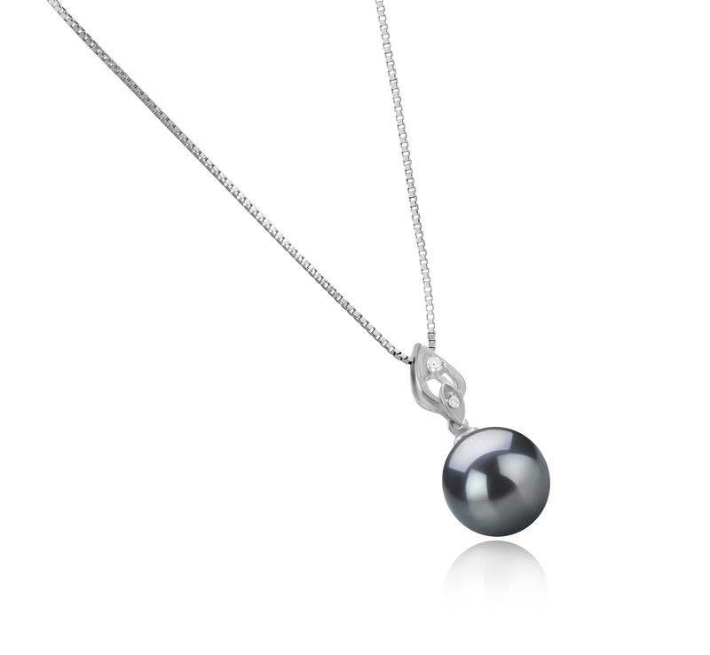 11-12mm AAA Quality Tahitian Cultured Pearl Pendant in Frida Black - #3