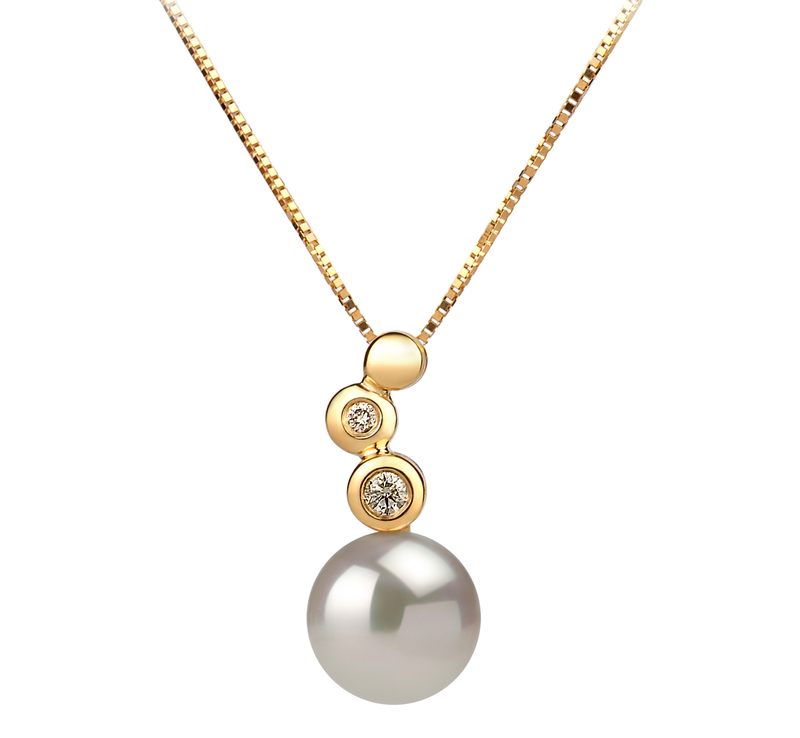 7-8mm AAA Quality Japanese Akoya Cultured Pearl Pendant in Galina White - #1