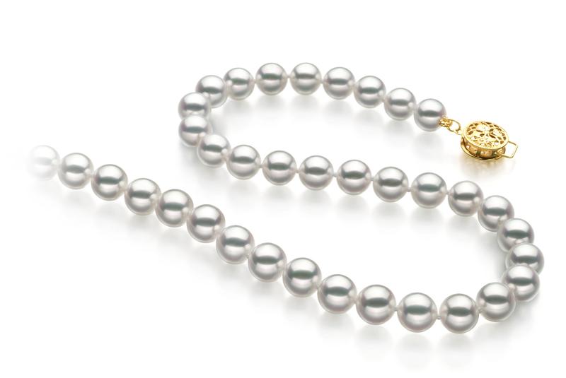 7-7.5mm Hanadama - AAAA Quality Japanese Akoya Cultured Pearl Necklace in Hanadama 23-inch White - #3