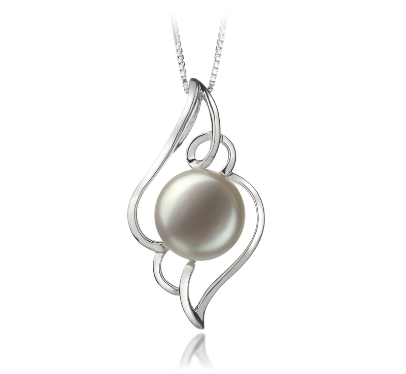 12-13mm AA Quality Freshwater Cultured Pearl Pendant in Hannah White - #1