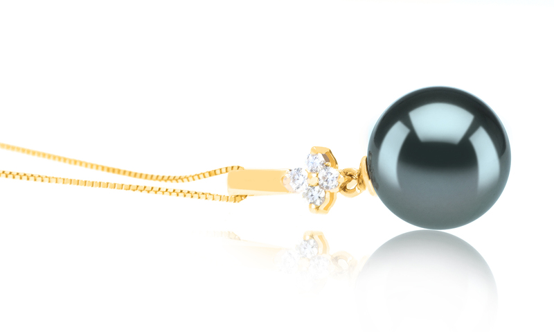 10-11mm AAA Quality Tahitian Cultured Pearl Pendant in Hilda Black - #3