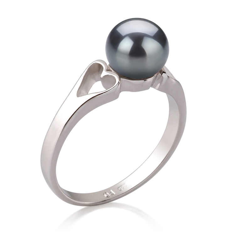 6-7mm AA Quality Freshwater Cultured Pearl Ring in Jessica Black - #2