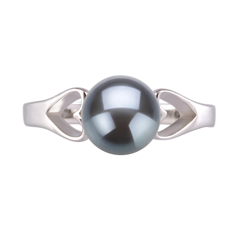 6-7mm AA Quality Freshwater Cultured Pearl Ring in Jessica Black - #3