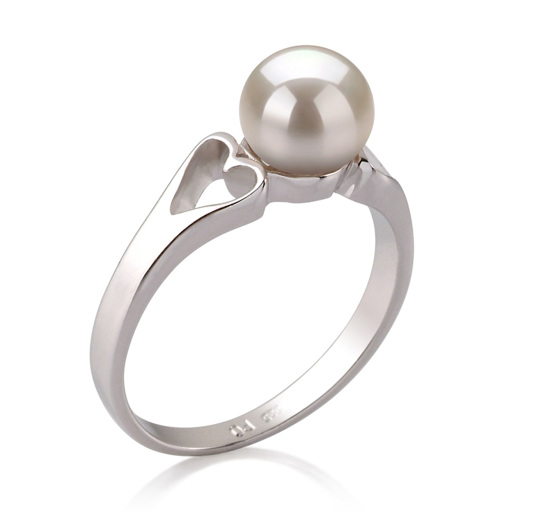 6-7mm AA Quality Freshwater Cultured Pearl Ring in Jessica White - #2