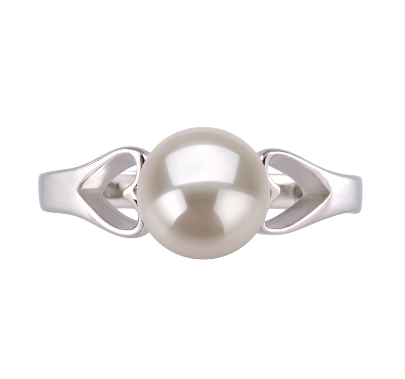 6-7mm AA Quality Freshwater Cultured Pearl Ring in Jessica White - #3