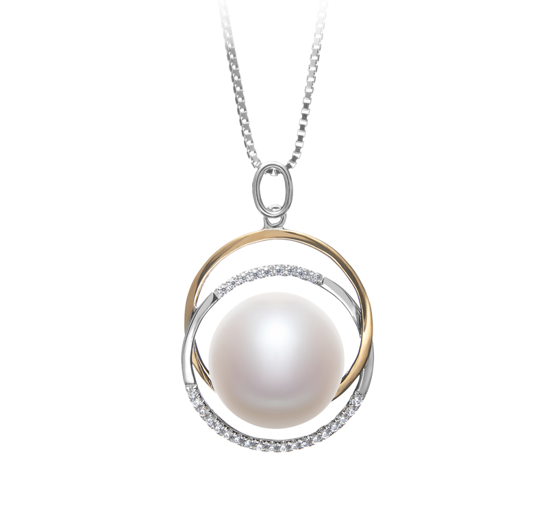 12-13mm AA Quality Freshwater Cultured Pearl Pendant in Judith White - #1