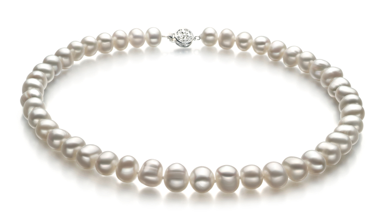 8-9mm A Quality Freshwater Cultured Pearl Set in Kaitlyn White - #2