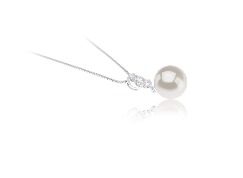 9-10mm AAAA Quality Freshwater Cultured Pearl Pendant in Kimberly White - #2