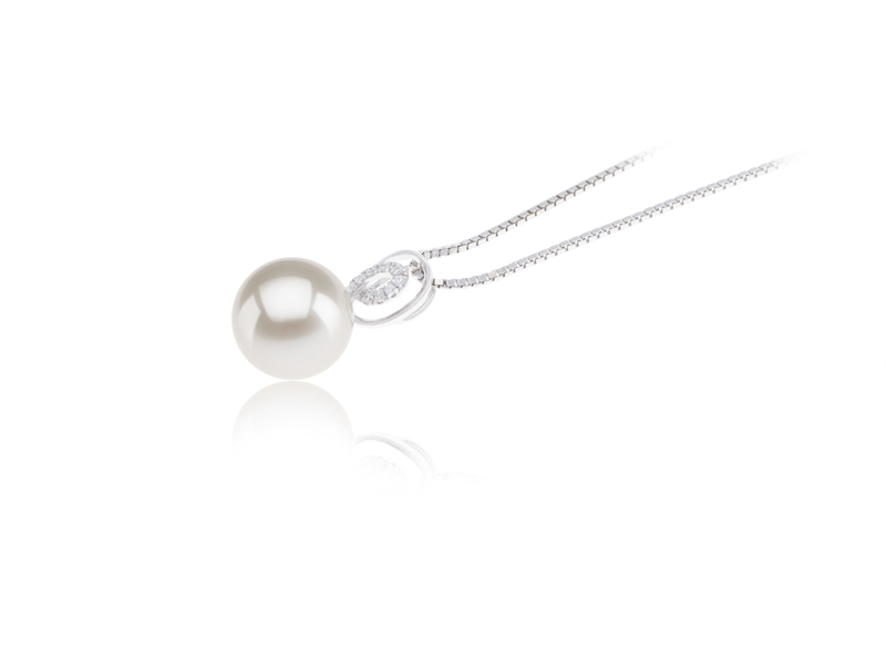 9-10mm AAAA Quality Freshwater Cultured Pearl Pendant in Kimberly White - #3