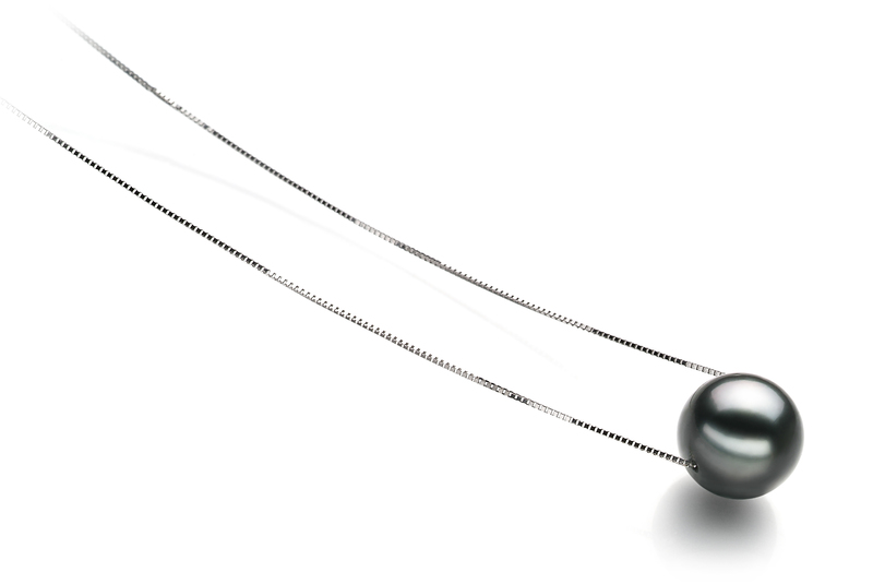 10-11mm AA Quality Tahitian Cultured Pearl Pendant in Kristine Black - #2