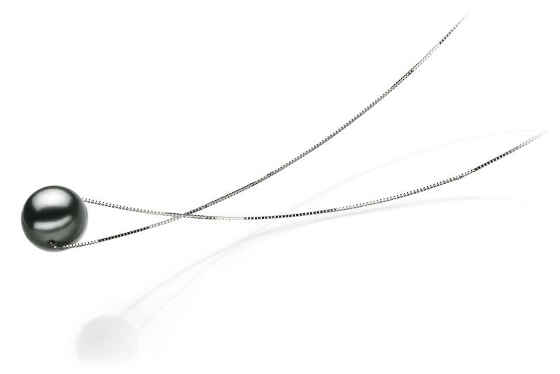 10-11mm AA Quality Tahitian Cultured Pearl Pendant in Kristine Black - #3