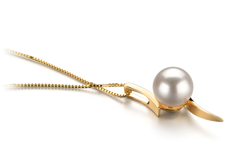 6-7mm AA Quality Japanese Akoya Cultured Pearl Pendant in Lanella White - #2