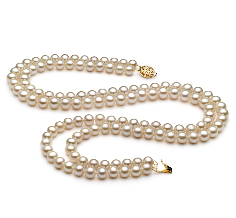6-7mm AA Quality Freshwater Cultured Pearl Necklace in Liah White - #1