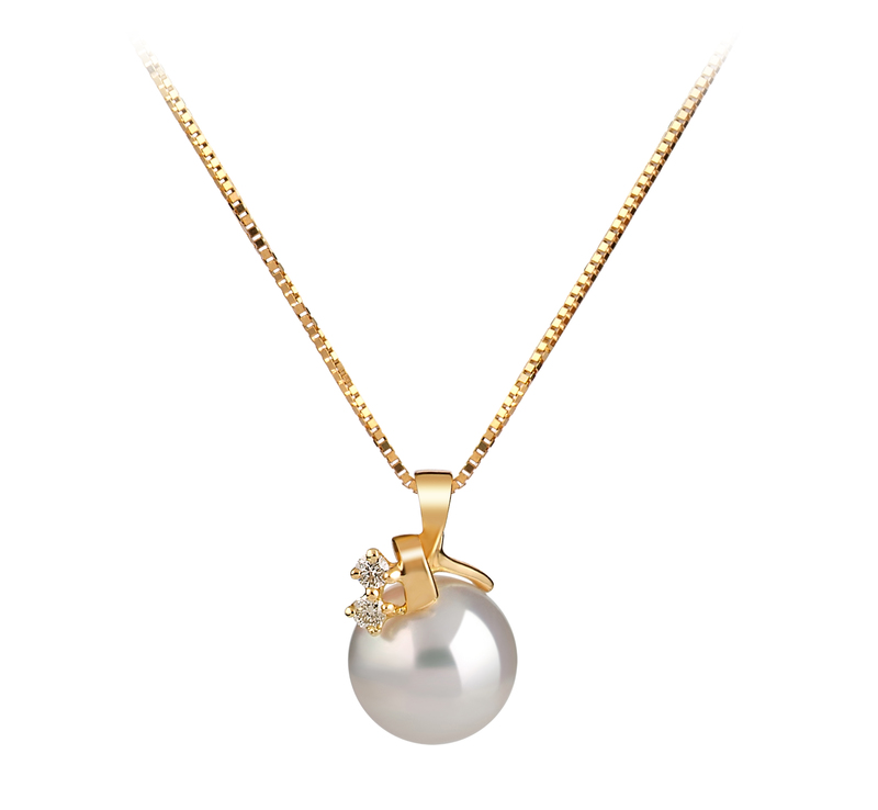 7-8mm AAA Quality Japanese Akoya Cultured Pearl Pendant in Luella White - #1