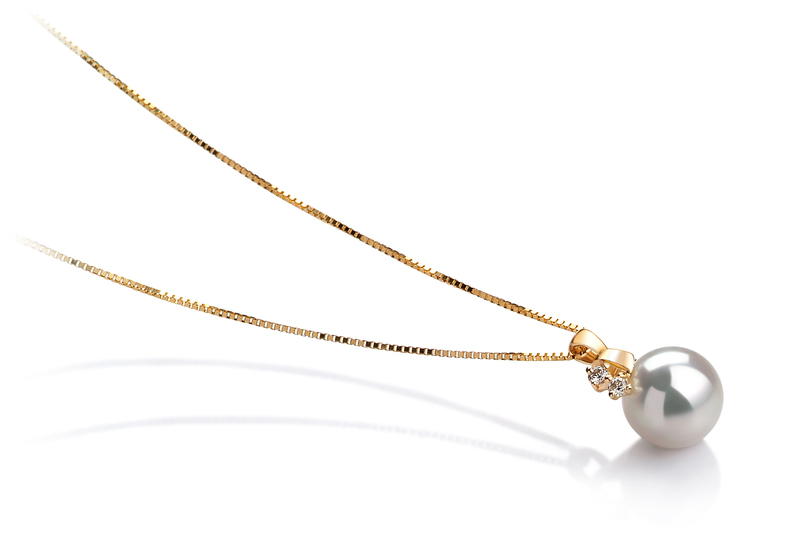 7-8mm AAA Quality Japanese Akoya Cultured Pearl Pendant in Luella White - #2