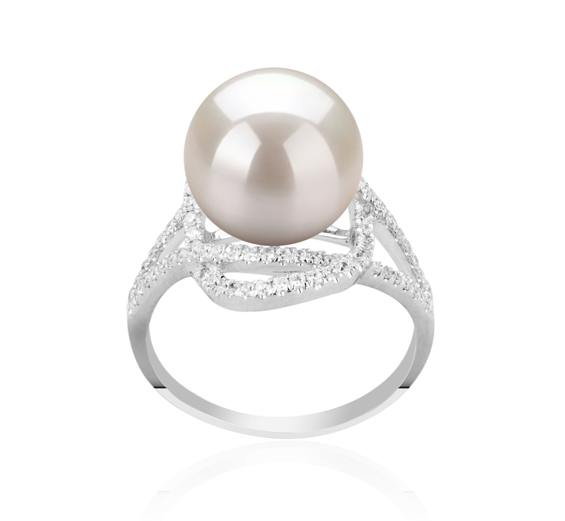 10-11mm AAAA Quality Freshwater Cultured Pearl Ring in Maddie White - #1