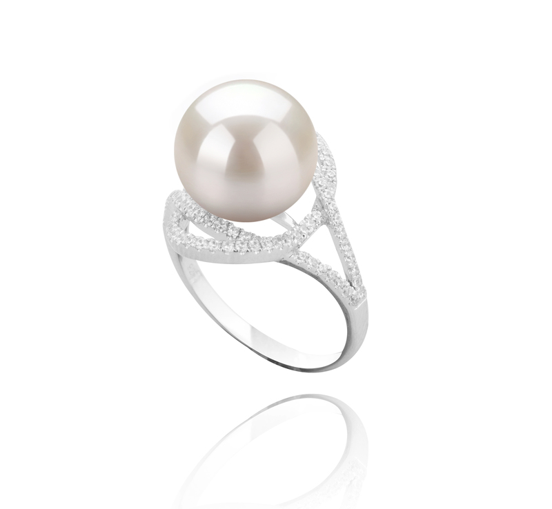 10-11mm AAAA Quality Freshwater Cultured Pearl Ring in Maddie White - #2