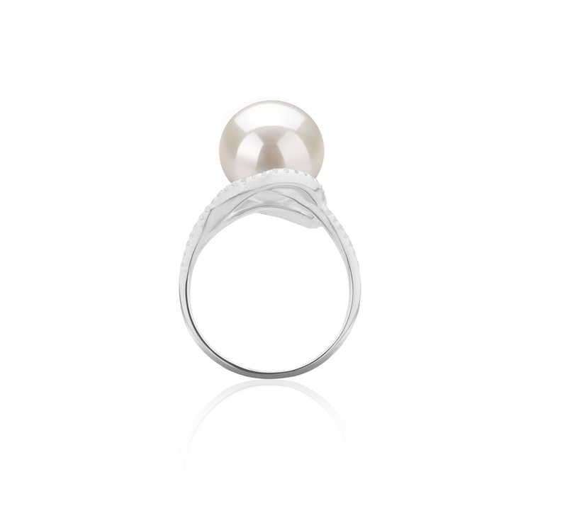 10-11mm AAAA Quality Freshwater Cultured Pearl Ring in Maddie White - #3